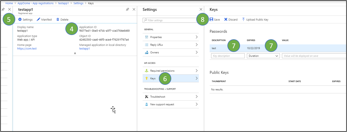 Register Apps in Microsoft Azure AD - save your changes