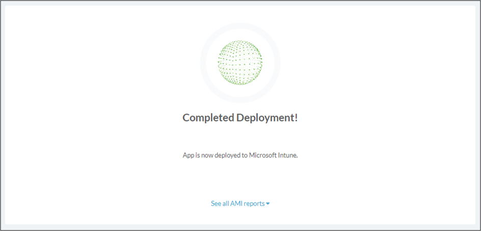 Automatic deployment complete - AMI
