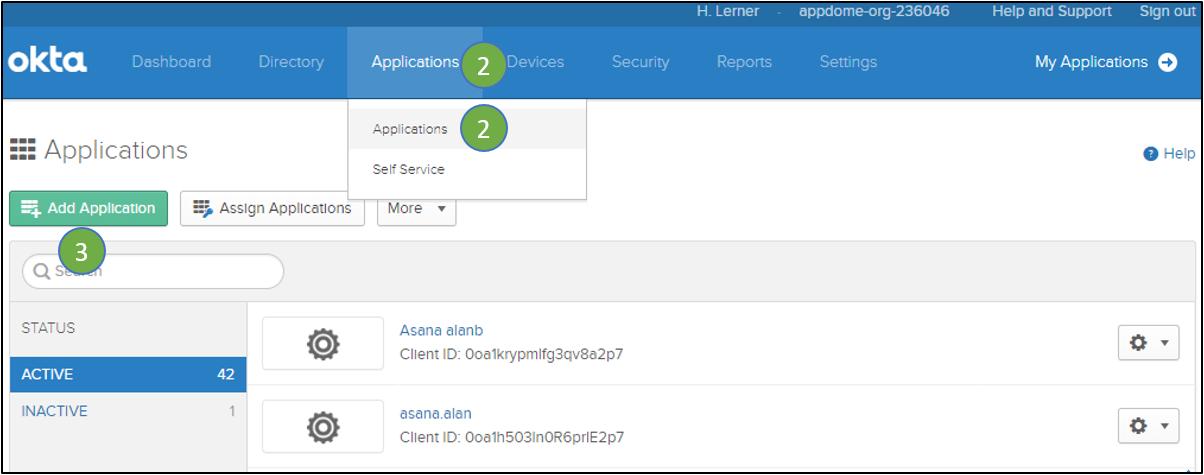 set up mobile app in Okta Identity Cloud SSO