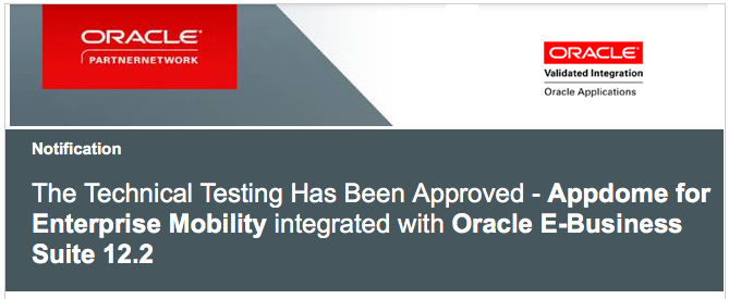 Appdome Achieves Oracle Validated Integration