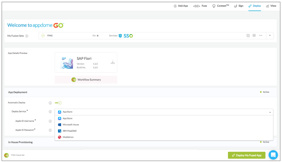 automatically deploy apps to public and enterprise app stores
