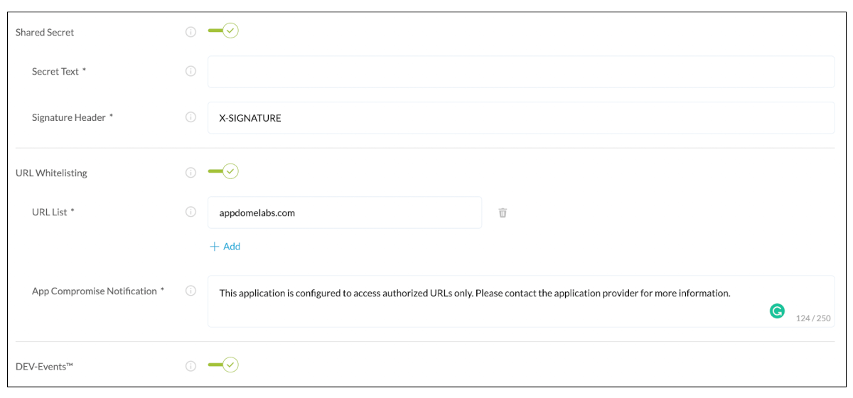 Inspecting session headers via Appdome Trusted Session feature
