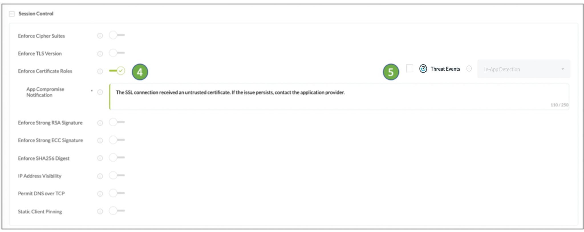 Enforce TLS SSL Certificate Roles in mobile apps