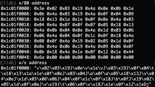 encrypted strings using Appdome encryption