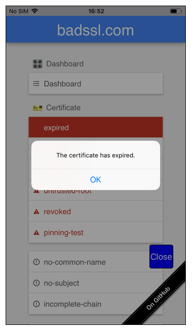 Troubleshoot TLS issues - expired certificate