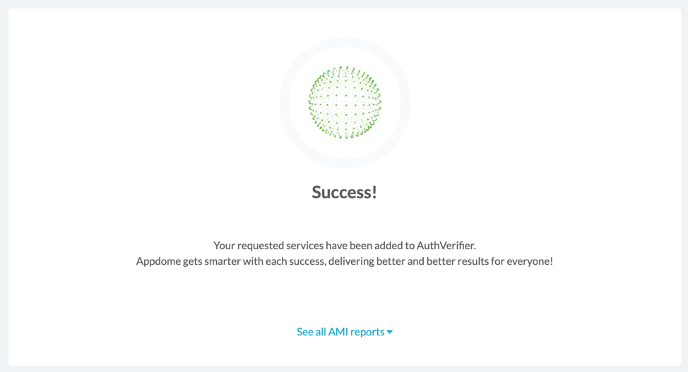 success message appdome Private Server Certificates
