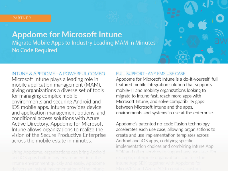 Appdome for Microsoft Intune Integration