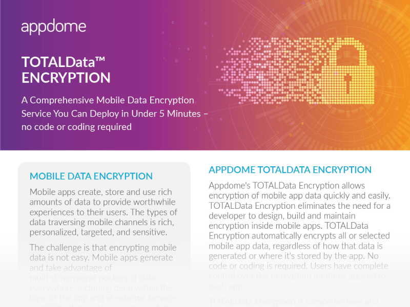 Mobile Data Encryption from Appdome