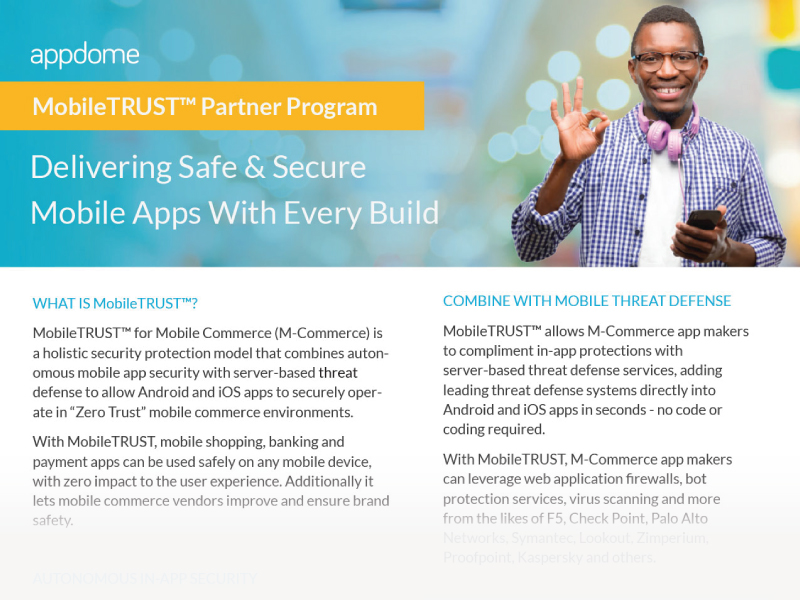 Appdome MobileTRUST Partner Program