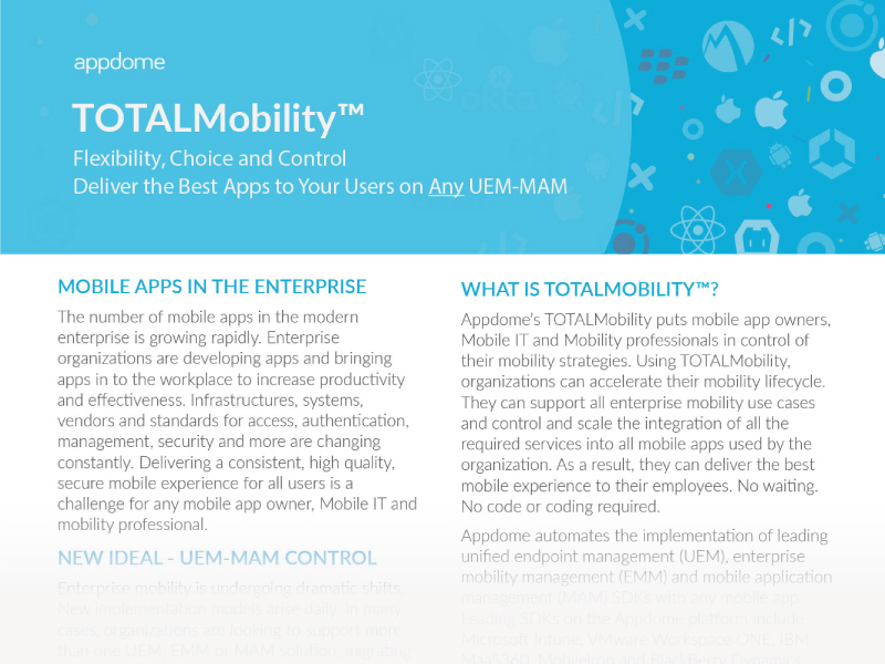 Appdome TOTALMobility™ eGuide - Fast & Easy Enterprise Mobility