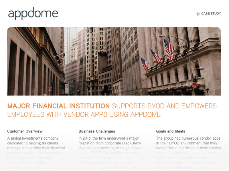 BYOD in Financial Services