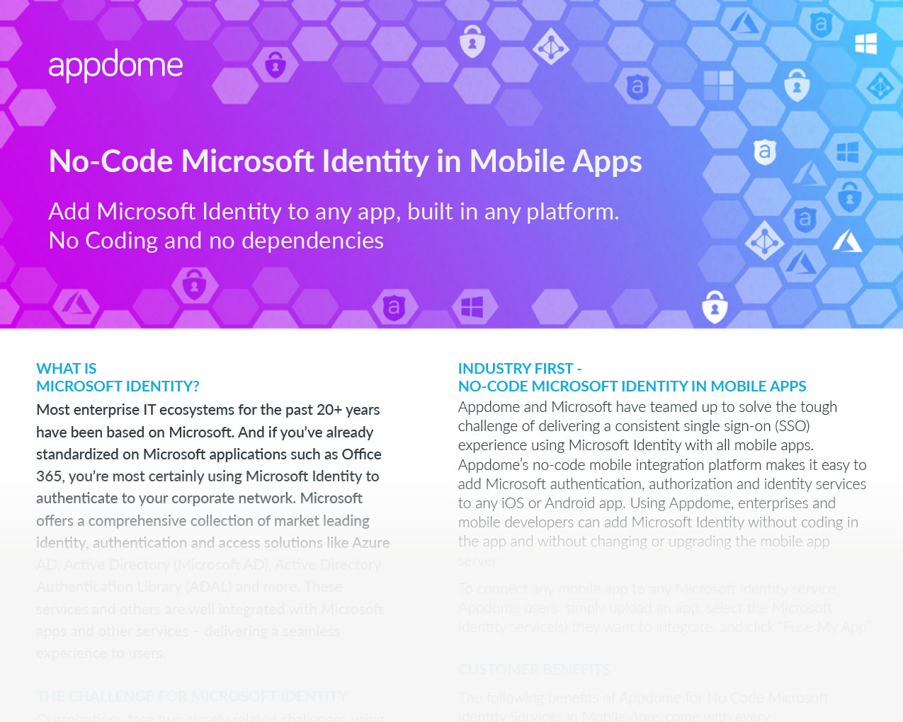 No-code Microsoft Authentication in Mobile Apps