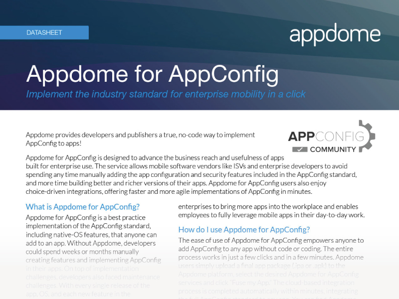 Appdome for AppConfig