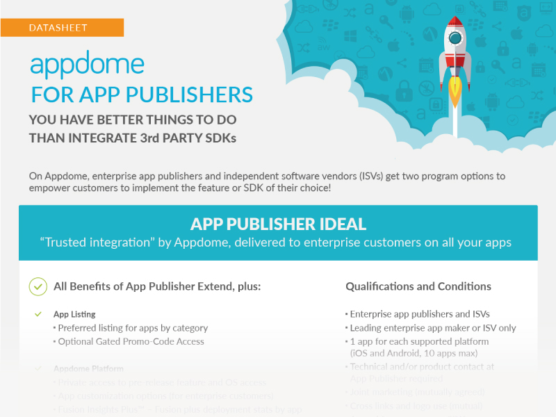 B2E apps and B2B apps solutions for App Publishers