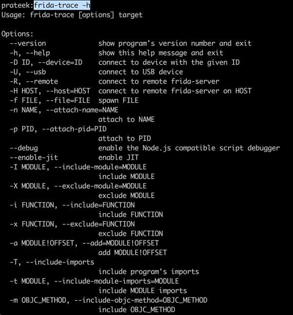 hackers use FRIDA to trace functions or methods in mobile apps