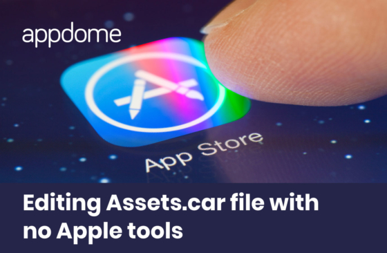 editing assest.car file to support inserting an icon for Appdome SecurePWA