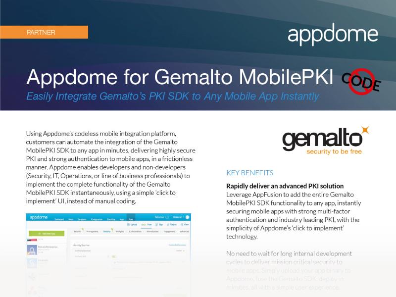 Gemalto MobilePKI Integration
