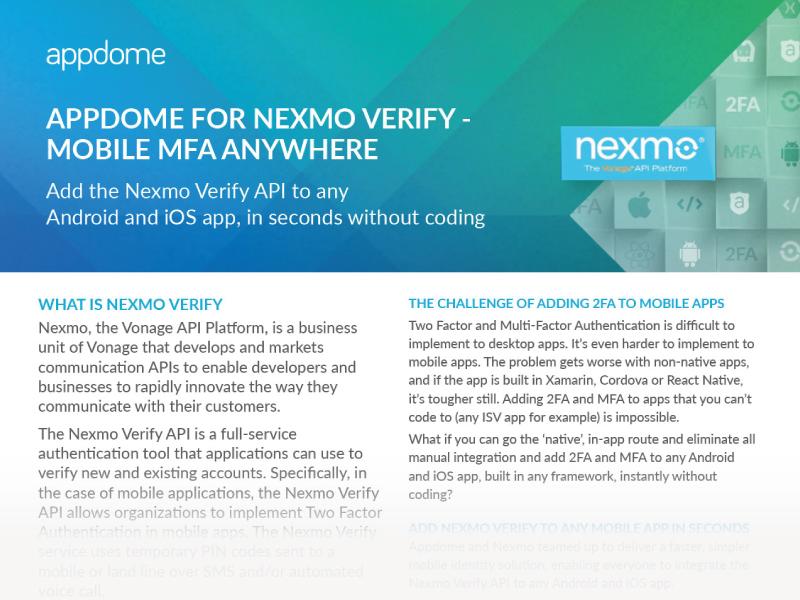 Nexmo Verify for Mobile Apps