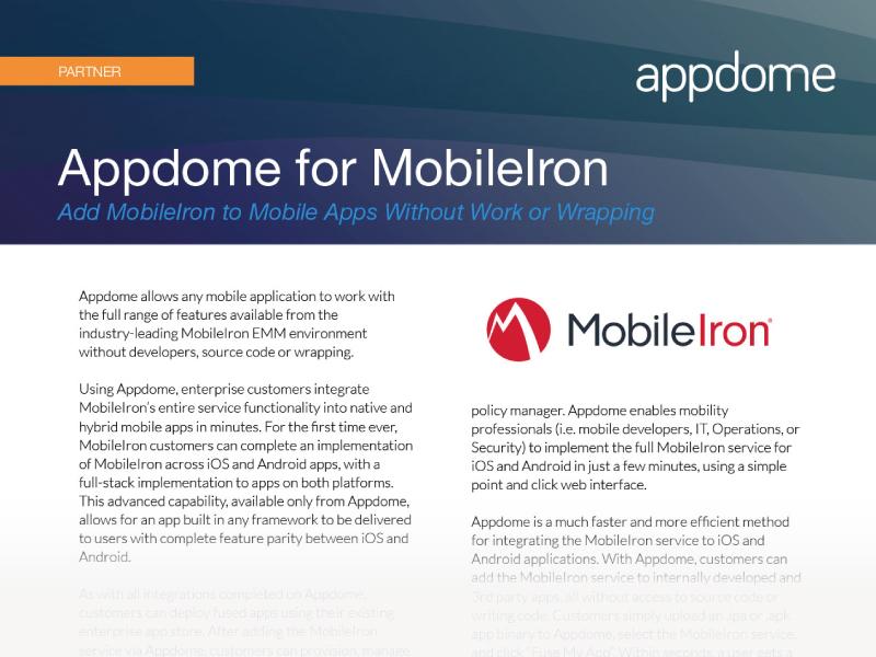 Appdome for MobileIron Integration