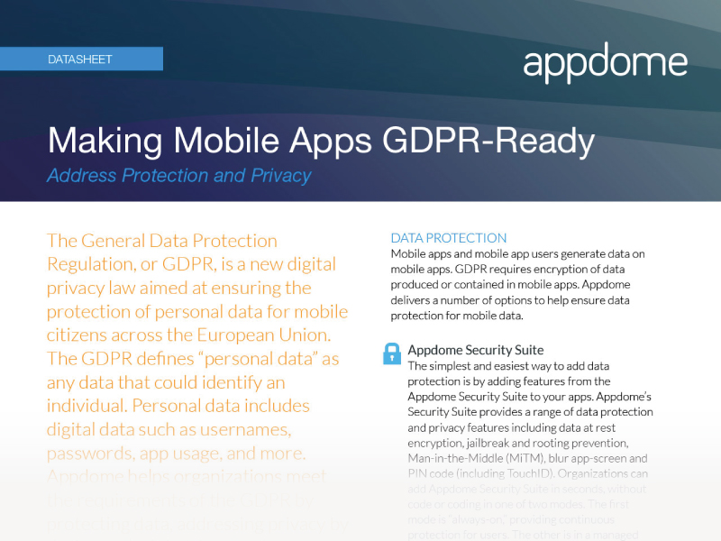 Mobile Apps GDPR Compliance