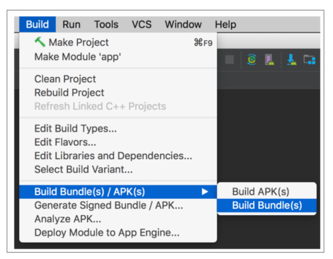 android app bundle android studio