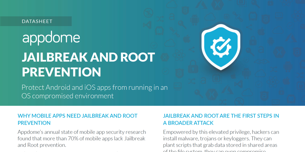 Appdome Jailbreak and Root Prevention datasheet preview