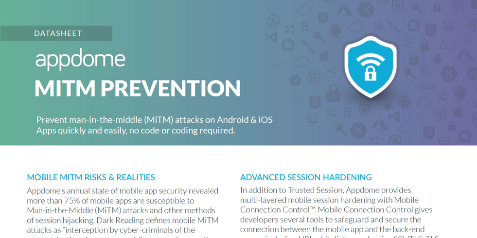 Appdome MiTM Prevention datasheet preview