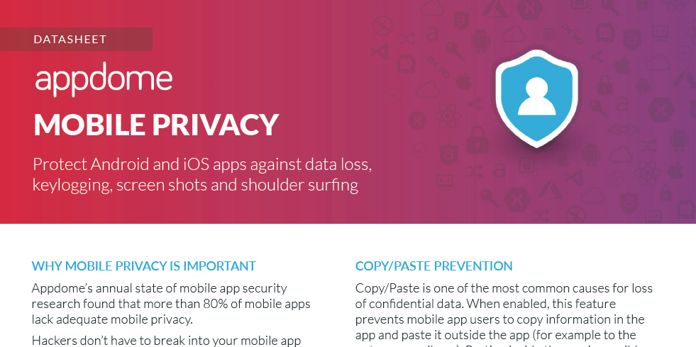 Appdome Mobile Privacy Datasheet Preview