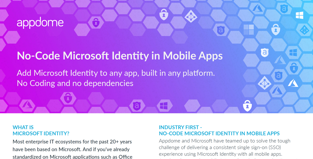 Appdome for Microsoft Identity datasheet preview