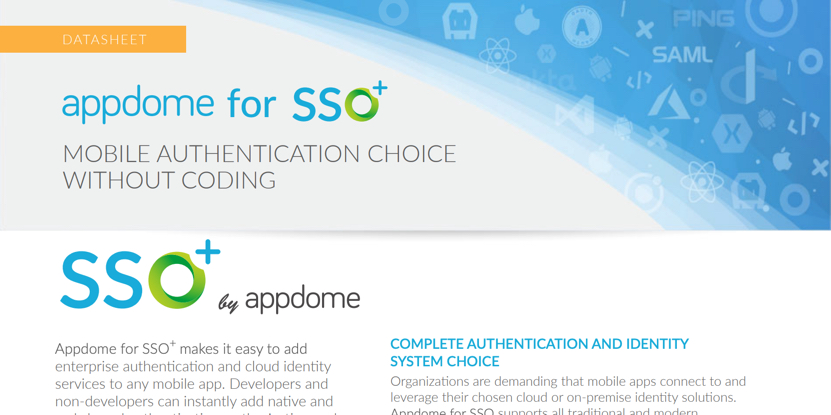 Appdome for Mobile SSO datasheet preview