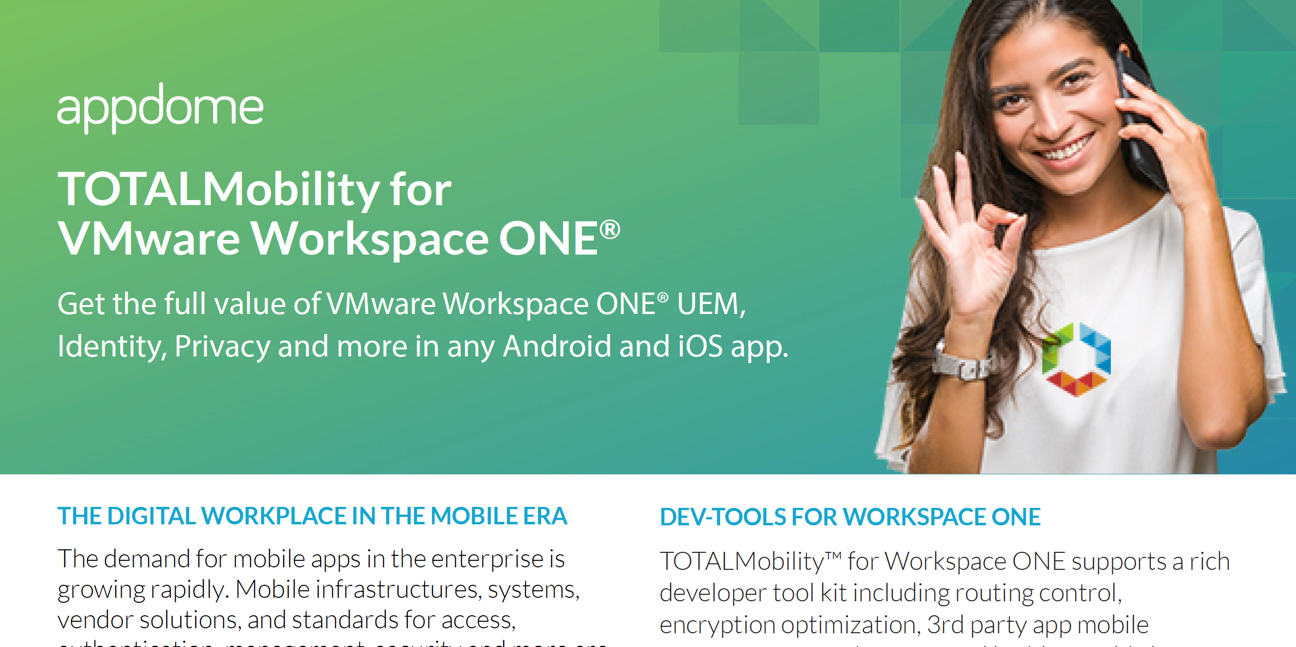 Appdome for VMWare Workspace ONE datasheet preview