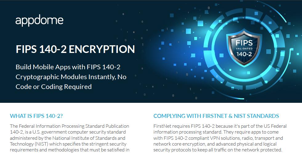 Appdome FIPS 140-2 Encryption datasheet preview