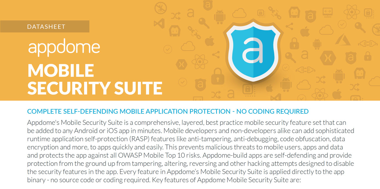 Appdome Mobile Security Suite datasheet preview