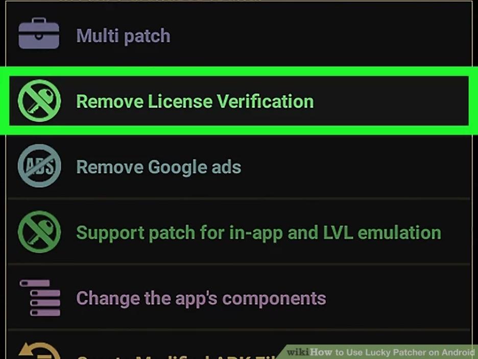 lucky patcher remove license verification