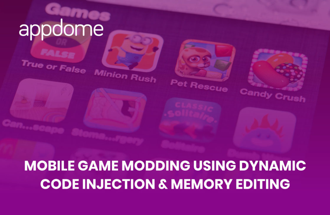 mobile game modding using dynamic code injection and memory editing