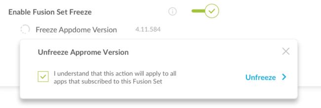 unfreeze fusion set