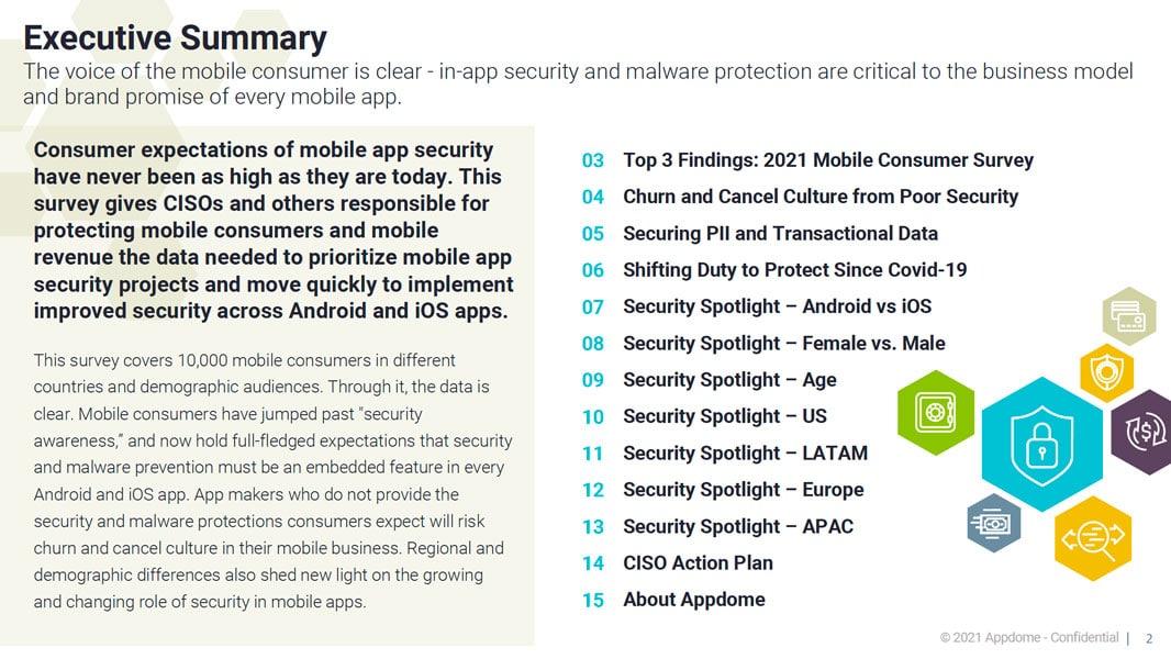 Appdome 2021 mobile consumer security survey executive summary